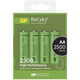GP ReCyko+ AA, HR6, 2500mAh, Ni-MH, krabička 4ks (1032214113) zelená
