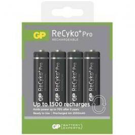 GP ReCyko+ Pro AA, HR6, 2000mAh, Ni-MH, krabička 4ks (1033214073) černá