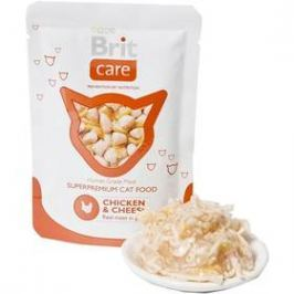 Brit Care Chicken & Cheese Pouch 80g
