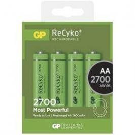 GP ReCyko+ AA, HR6, 2700mAh, Ni-MH, krabička 4ks (1032214130) zelená Baterie
