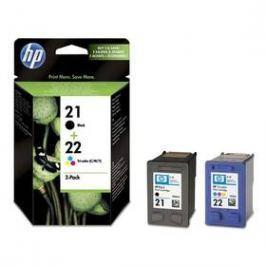 HP No. 21+22, 2 pack, 190/165 stran - originální (SD367AE) černá