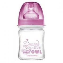 Canpol babies EasyStart PURE glass 120 ml růžová