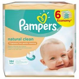 Pampers Naturally Clean 6 x 64ks
