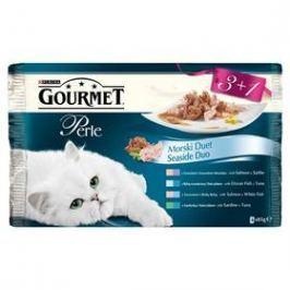 Gourmet Perle Duo rybí Multipack (3+1 zdarma 85g)