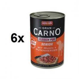 Animonda Senior Gran Carno kuře + krůtí srdce 6 x 400g