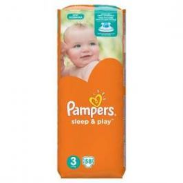 Pampers Sleep&Play , 3 midi 5-9kg, 58 ks