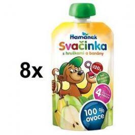 Hamánek svačinka POUCH 100% s hruškami a banány 8x120g