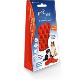 Pet and Me pro psy s dlouhou srstí červený