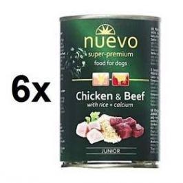Nuevo Dog Junior kuřecí a hovězí 6 x 800g