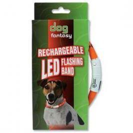 Dog Fantasy LED světelný 70cm oranžový