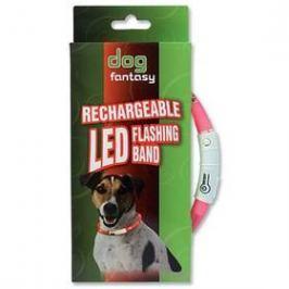 Dog Fantasy LED světelný 70cm růžový