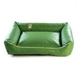 Argi pro psa obdélníkový EKO kůže - 80x65 cm / snímatelný potah zelený