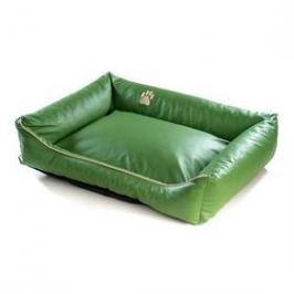 Argi pro psa obdélníkový EKO kůže - 100x80 cm / snímatelný potah zelený