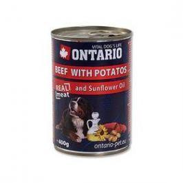 Ontario Adult hovězí, brambor a slunečnicový olej 400g