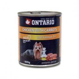 Ontario Adult kuře, karotka a lososový olej 800g