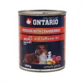 Ontario Adult zvěřina, brusinky a světlicový olej 800g