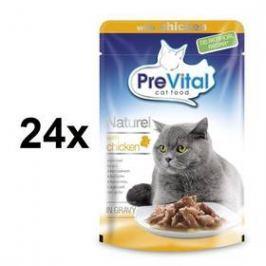 PreVital NATUREL dušené filetky v omáčce kuřecí 28 x 85 g