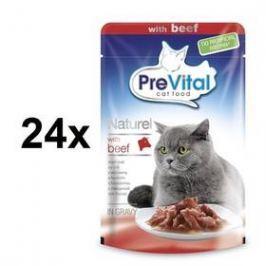 PreVital NATUREL dušené filetky hovězí 28 x 85 g