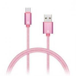 Connect IT Wirez Premium USB-C, 1m (CI-667) růžový/zlatý