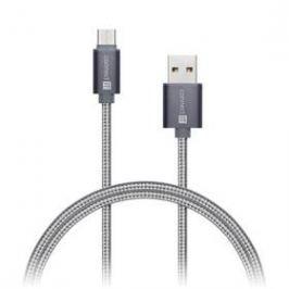 Connect IT Wirez Premium USB-C, 1m (CI-665) stříbrný/šedý