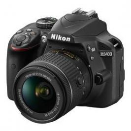 Nikon D3400 + AF-P 18-55 VR + 4x čištění čipu zdarma (VBA490K001) černý