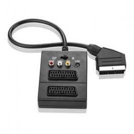 GoGEN SCART /2x SCART + S-Video, 3x Cinch, 0,5m (SCARTHUB 050MF01) černý