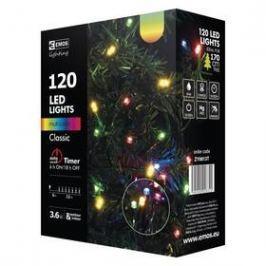 EMOS 120 LED, 12m, řetěz, vícebarevná, časovač, i venkovní použití (1534081035)