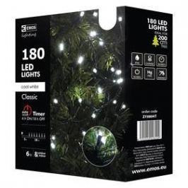 EMOS 180 LED, 18m, řetěz, studená bílá, časovač, i venkovní použití (1534080045)