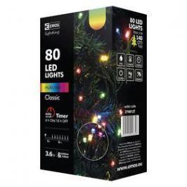 EMOS 80 LED, 8m, řetěz, vícebarevná, časovač,  i venkovní použití (1534081025)