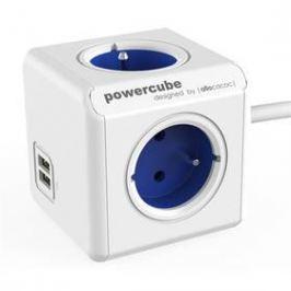 Powercube Extended USB, 4x zásuvka, 2x USB, 1,5m bílý/modrý