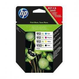 HP 950XL černá + 951XL azurová, purpurová a žlutá (C2P43AE)
