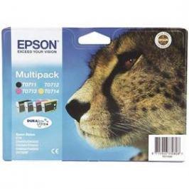 Epson T0715, 3x 6ml, 1x 7ml - originální (C13T07154010) černá/červená/modrá/žlutá Inkoustové náplně