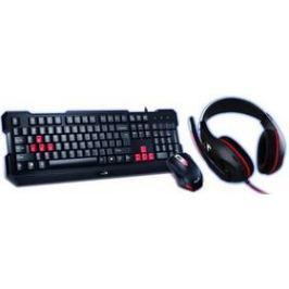 Genius GX Gaming GX Gaming KHM-200 + headset (31280230105) černá/červená