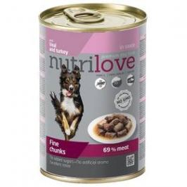 Nutrilove Dog chunks Veal + Turkey sauce 415g