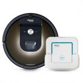 iRobot Roomba 980 + Braava jet 240 bílý/hnědý