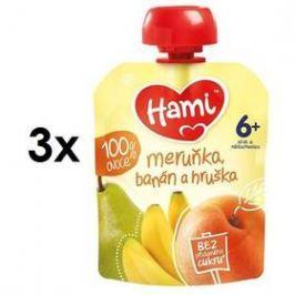 Hami ovocná kapsička Meruňka, banán a hruška 90g x 3ks