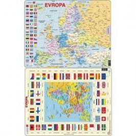 Larsen Mapa Evropy + vlajky 2ks