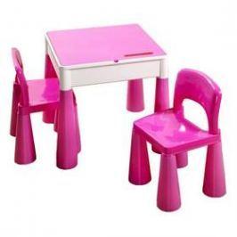 Cosing MAMUT plastový stoleček a 2 židličky růžový