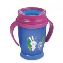 LOVI 360 JUNIOR Rabbit s úchytky 250ml modrý/růžový