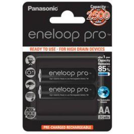 Panasonic Eneloop Pro AA, 2500mAh, 2 ks (BK-3HCDE/2BE) černá