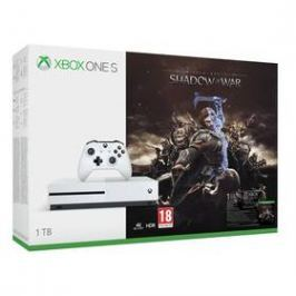 Microsoft Xbox One S 1 TB + Middle-earth: Shadow of War (234-00189)