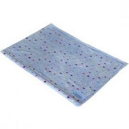 Nobby Spot plyšová deka s puntíky 75 x 50 cm modrá
