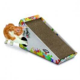 Argi kartonové pro kočky s hračkou a šantou - 48 x 27 x 20 cm