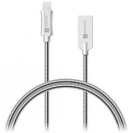 Connect IT Wirez Steel Knight Lightning, 1m, ocelový, opletený (CCA-4010-SL) stříbrný