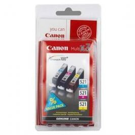 Canon CLI-521 C/M/Y - originální (2934B007) modrá/žlutá/růžová