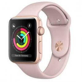 Apple Watch Series 3 GPS 38mm pouzdro ze zlatého hliníku - pískově růžový sportovnm řemínek (MQKW2CN/A)