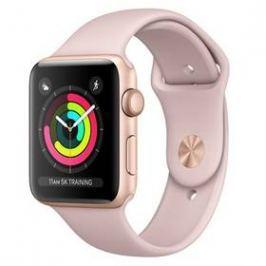 Apple Watch Series 3 GPS 42mm pouzdro ze zlatého hliníku - pískově růžový sportovnm řemínek (MQL22CN/A)