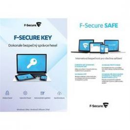 F-Secure TOTAL,  3 zařízení / 1 rok + KEY Premium X zařízení / 2 roky (FCFTBR1N003G1KEY)
