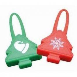 Nobby Starlight Christmas blikající přívěšek zelená barva