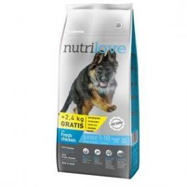 Nutrilove Dog dry Junior L fresh chicken 12kg + 2,4 kg ZDARMA